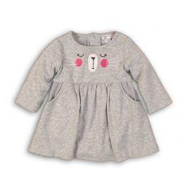 Šaty kojenecké s bodyčkem šedá 68/74
