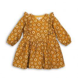 Šaty dívčí viskózové žlutá 80/86