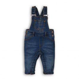 Kalhoty džínové s laclem modrá 80/86