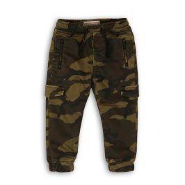 Kalhoty chlapecké s elastenem khaki 140/146