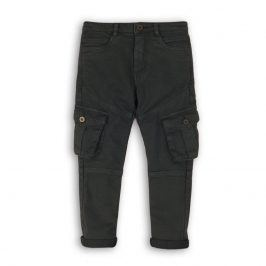 Kalhoty chlapecké s elastenem antracit 116/122