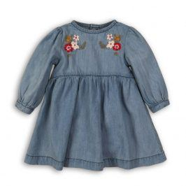 Šaty džínové s výšivkou modrá 56/62