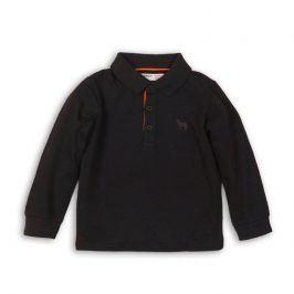 Tričko chlapecké POLO bavlněné s dlouhým rukávem antracit 104/110