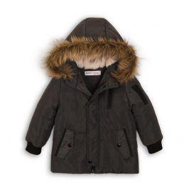 Kabát chlapecký zimní Parka antracit 68/80