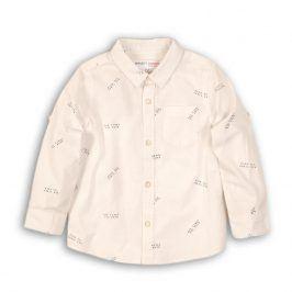 Košile chlapecká bavlněná bílá 68/80