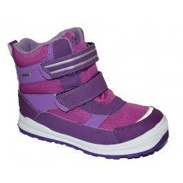 obuv zimní 2 pásky růžová 25