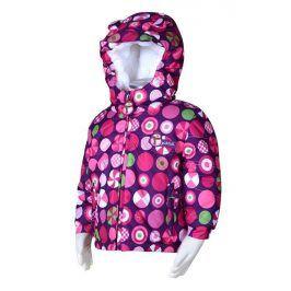 bunda zimní s kožíškem růžová 80