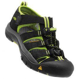 Dětské sandály NEWPORT H2 JR, black/lime green černá 35