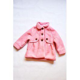 Kabát dívčí růžová 68/80