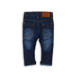 Kalhoty chlapecké džínové s elastenem tmavě modrá 104/110