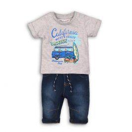 Chlapecký set, džíny a tričko tmavě modrá 68/74