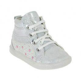 Dívčí kotníková obuv stříbrná 26