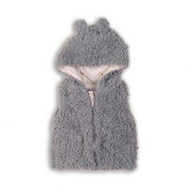Minoti FOREST 1 Vesta dívčí chlupatá s kapucí šedá 5/6let