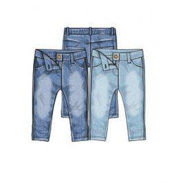 Kalhoty džínové dívčí s elastenem tmavě modrá 110/116