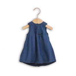 Minoti butterfly 8 Šaty džínové s kalhotkami modrá 6-9m