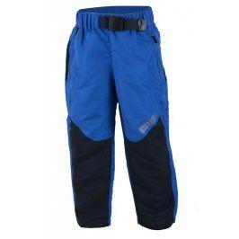 kalhoty sportovní s fleezem outdoorové modrá 116