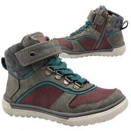 boty chlapecké celoroční šedá 25