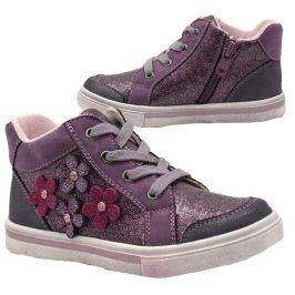 boty dívčí celoroční fialová 29