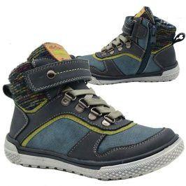 boty chlapecké celoroční modrá 29