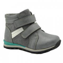 boty chlapecké zateplené šedá 23