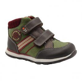 boty chlapecké celoroční khaki 22
