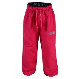 kalhoty sportovní s fleezem outdoorové růžová 158