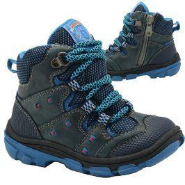 boty dětské zimní modrá 23