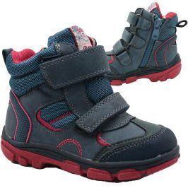 boty dětské zimní modrá 25
