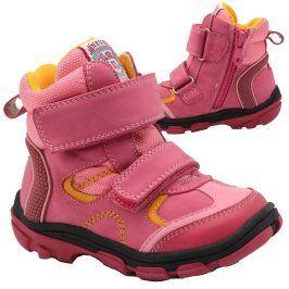 boty dětské zimní růžová 25