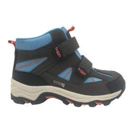 boty zimní 2 pásky, nepromokavá membrána modrá 34