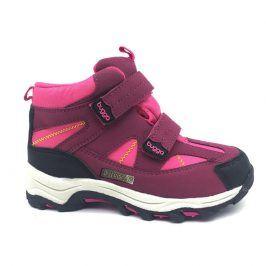 boty zimní 2 pásky, nepromokavá membrána růžová 33