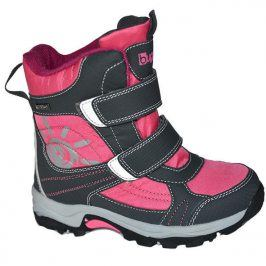 boty zimní 2 pásky, nepromokavá membrána růžová 25