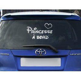 MaDéco Samolepka na auto Princesse ? bord, 15x25 cm