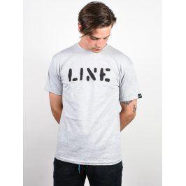 Pánské tričko Line Stencil S/S, šedé