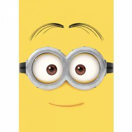 Vopi Dětský koberec Mimoni Gogglehead žlutý 95x133 cm