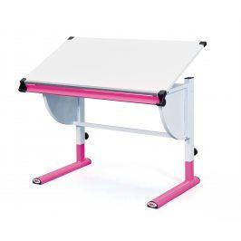 Halmar Dětský rostoucí psací stůl CETRIX - bílo-růžový