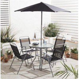 ABC zahradní sestava Hawaii stůl + 4 židle + slunečník