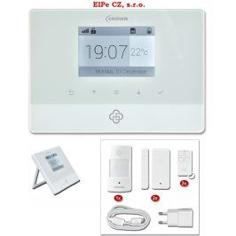 Ecolite HF-GSM04 Bezdrátový GSM alarm s LCD displ.,2x dálk.ovl.,1x PIR,2x DOOR
