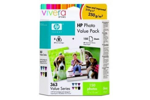 HP č. 363 - value photo pack + 150 ks 10x15, Q7966EE - originál 363 /363XL