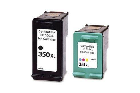HP CB338EE + HP CB336EE, č. 350 XL + č. 351 XL - kompatibilní Náplně do tiskárny HP OfficeJet J6410