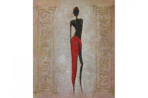 Obraz - Modelka v čevené sukni 1 Obrazy
