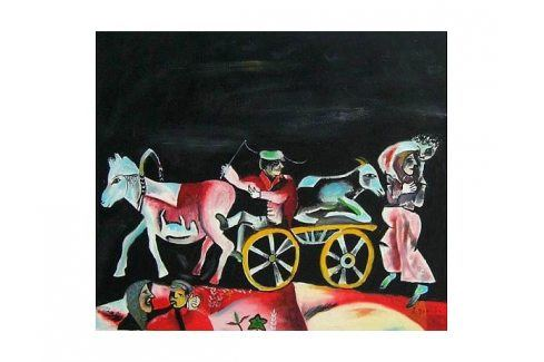 Obraz - Kůň s vlekem Obrazy