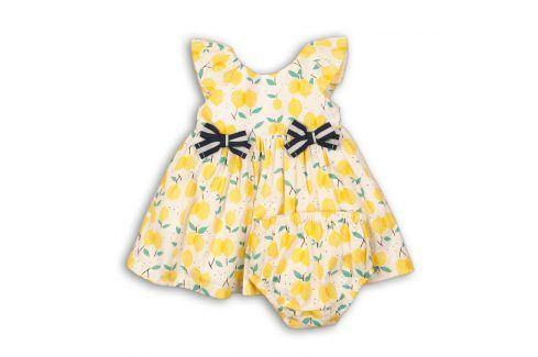 Šaty dívčí s kalhotkami žlutá 68/74 Kojenecké šatičky a sukně