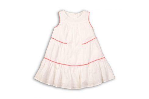 Šaty dívčí bavlněné bílá 116/122 Šaty, sukně