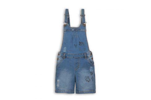 Kraťasy dívčí džínové s laclem modrá 116/122 Dětské šortky