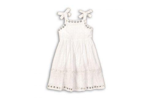 Šaty dívčí bavlněné bílá 98/104 Šaty, sukně