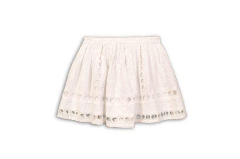 Sukně dívčí bílá 104/110 Šaty, sukně