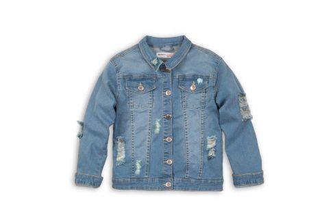 Bunda dívčí džínová modrá 122/128 Dětské bundy a kabáty