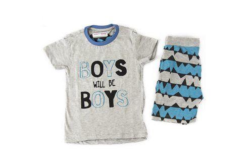 Pyžamo chlapecké: kraťasy kluk 140/146 Dětská pyžama a košilky