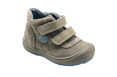 boty celoroční šedá 25 Dětská obuv